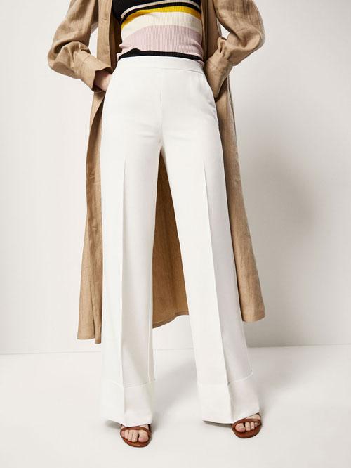 Pantalones anchos largos